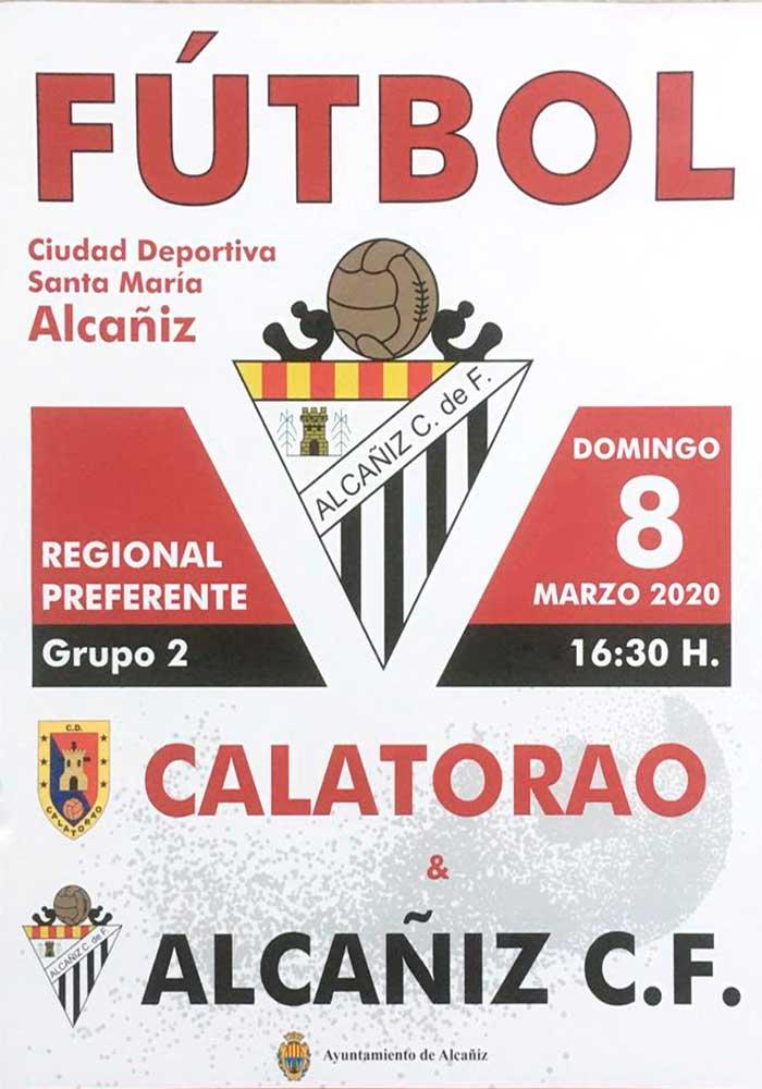 Partido de fútbol Alcañiz CF - CD Calatorao