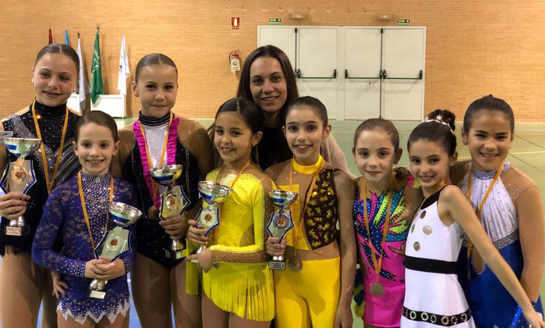 El Alcañiz Club Patín Artístico consigue cinco medallas en el Trofeo de Invierno