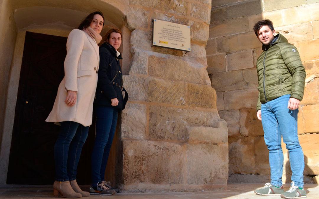 Los tres ediles del PP que han comparecido en la rueda de prensa./ De Luna