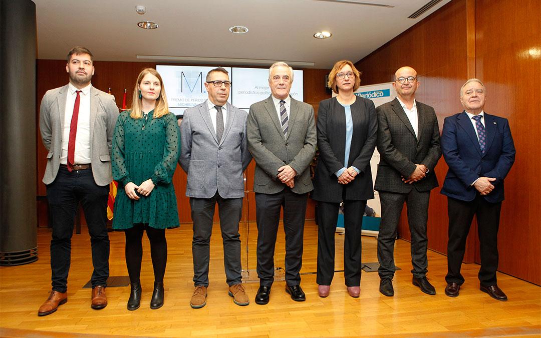 El periodista de El País Marcos Lema ha conseguido la mención Antonio Torres por sus artículos sobre Teruel Existe./ Cortes de Aragón