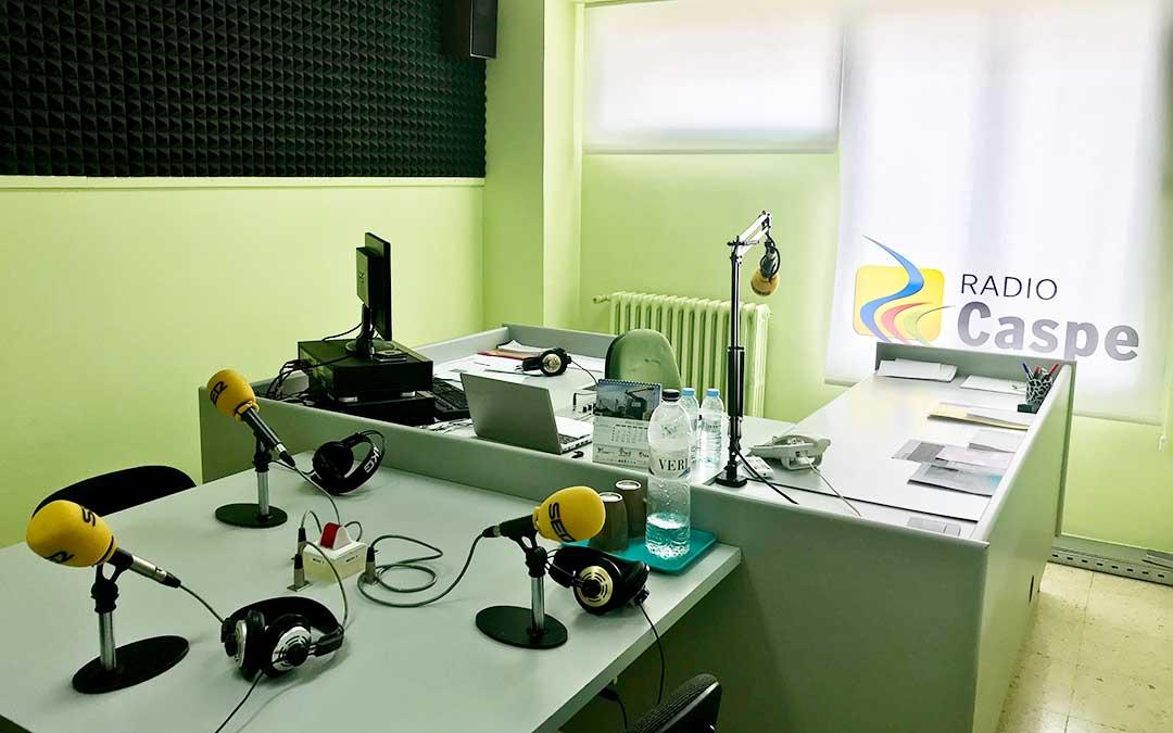 Estudio de Radio Caspe.
