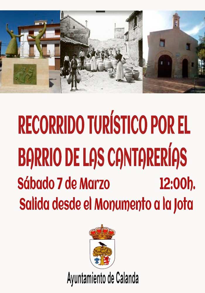 Recorrido turístico por el barrio de Las Cantarerías en Calanda