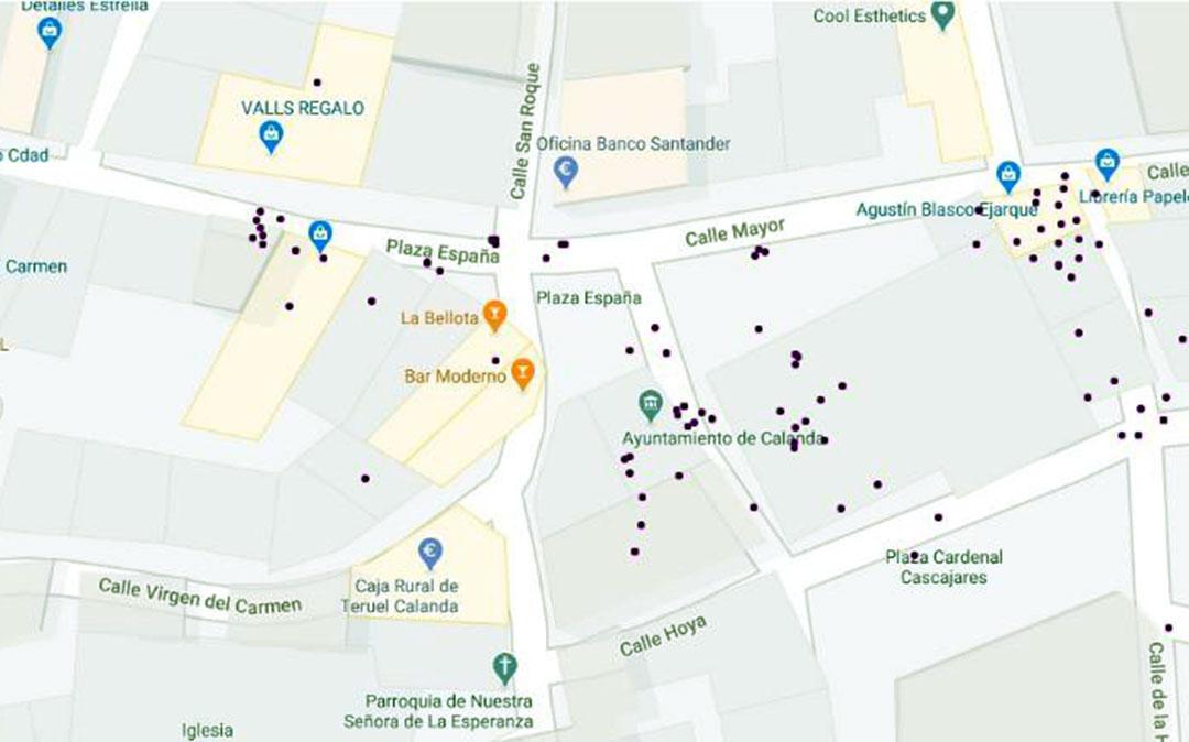 Mapa virtual creado por Samuel Aparicio./