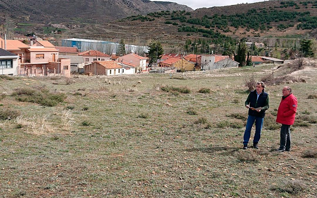 Terrenos cedidos por el Ayuntamiento de Utrillas para la construcción del cuartel de la Guardia Civil./ Ayto. de Utrillas