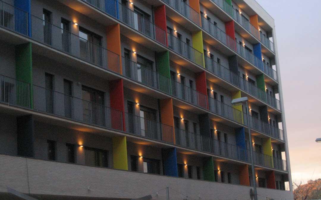 Foto de archivo del bloque de 75 viviendas para mayores de 65 años que gestiona la sociedad municipal Fomenta