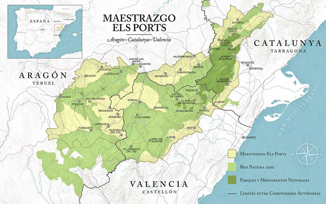 Imagen del territorio que comprende el proyecto Maestrazgo-Els Ports, conocido como el Yellowstone europeo./