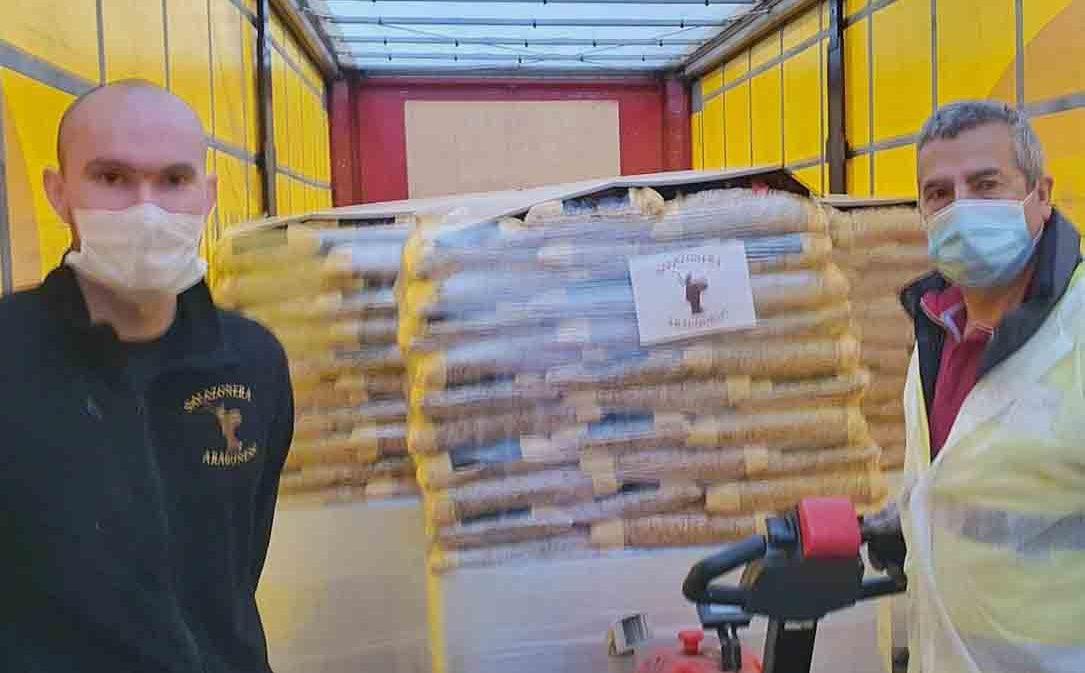 Salazonera Aragonesa y Pastas Romero donan 10 toneladas de pasta al Banco de Alimentos