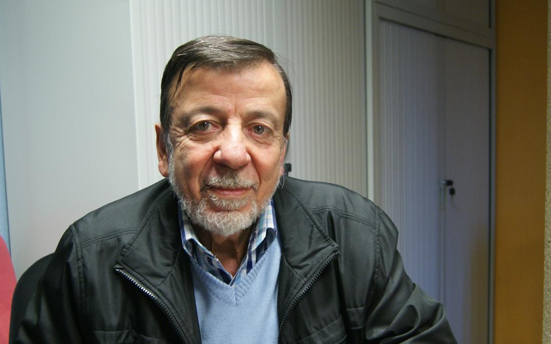 Miguel Nassif en 2017, durante su entrevista en La Comarca