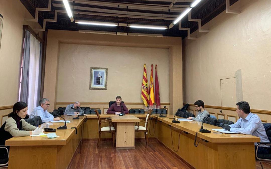 Junta de Portavoces en Alcañiz./ Ayto. de Alcañiz