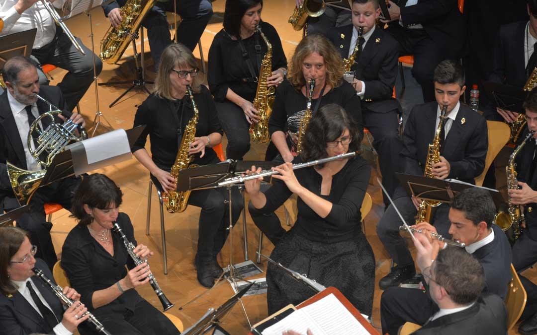 Concierto del aniversario del Centenario de la Banda Municipal de Música de Andorra en 2017. / Archivo personal
