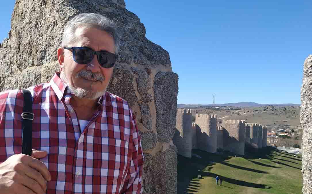 Javier González Sediles este mes de marzo en un viaje, antes del confinamiento. L. C.