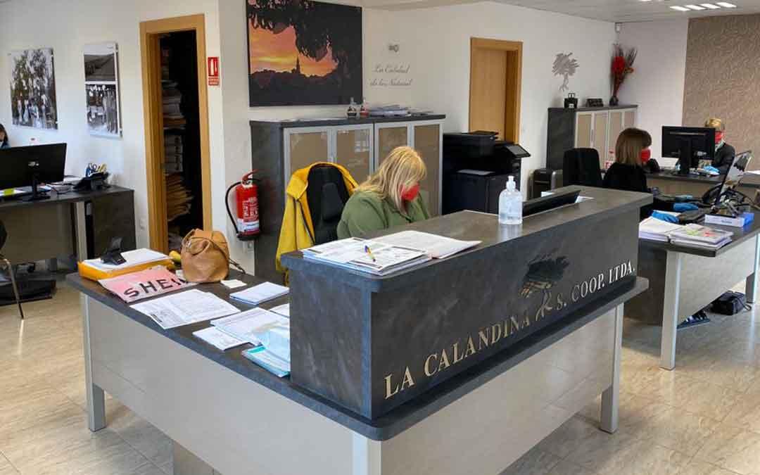 Oficinas de La Calandina estos días