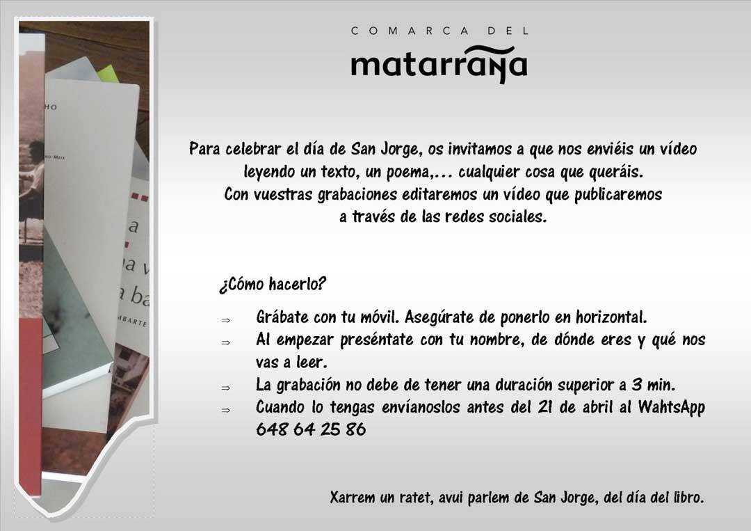 Cartel del departamento de cultura de la comarca del Matarraña.