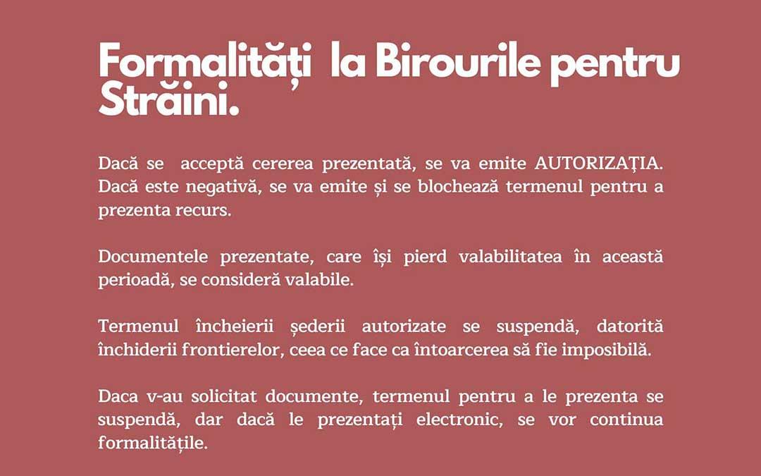 Cartel de información en rumano.