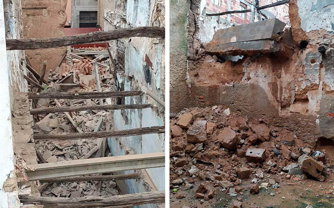Segundo derrumbe en el casco antiguo de Alcañiz en menos de 24 horas