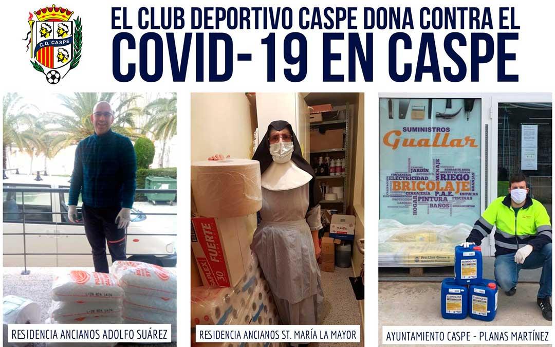 Las residencias y el ayuntamiento de Caspe recibieron la donación el viernes.