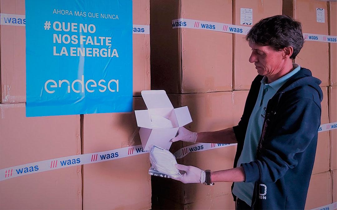Endesa ha donado más de 2 millones de mascarillas quirúrgicas./ Endesa