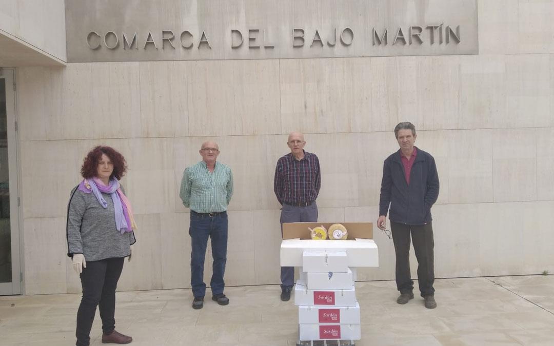 La Comarca del Bajo Martín distribuirá 73 kilos de queso entre las residencias del Bajo Aragón Histórico