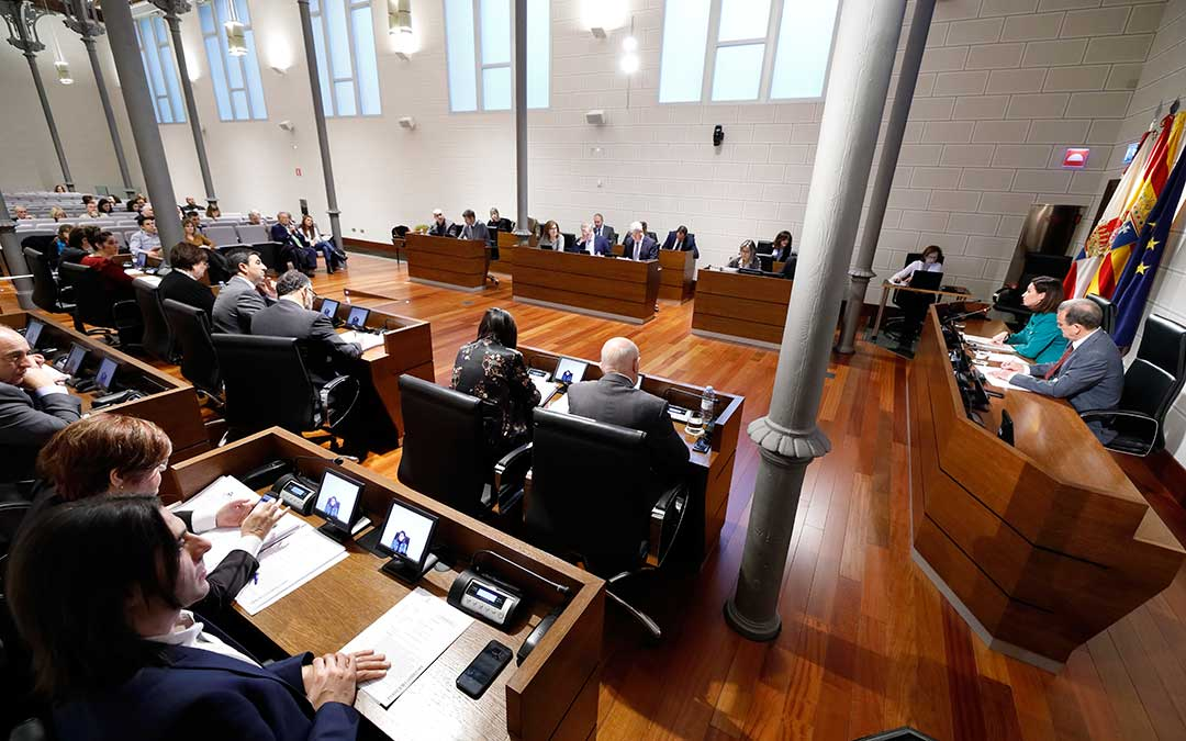 Pleno de la Diputación Provincial de Zaragoza.