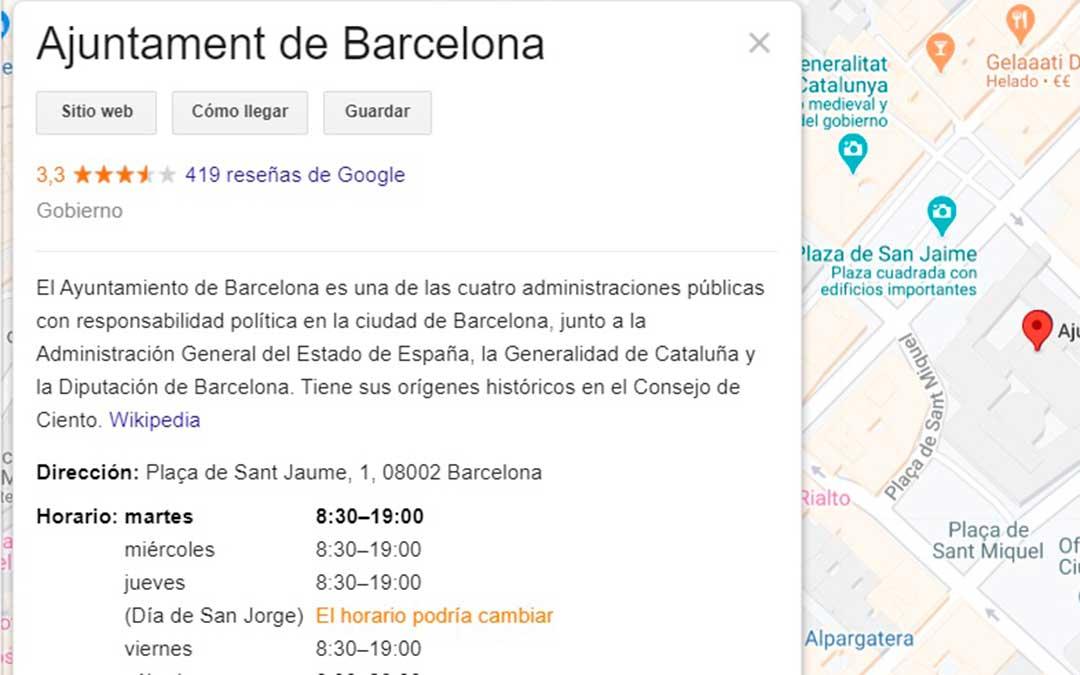 Por su parte en los horarios de la vecina Cataluña el 23 de abril aparece como Día de San Jorge.