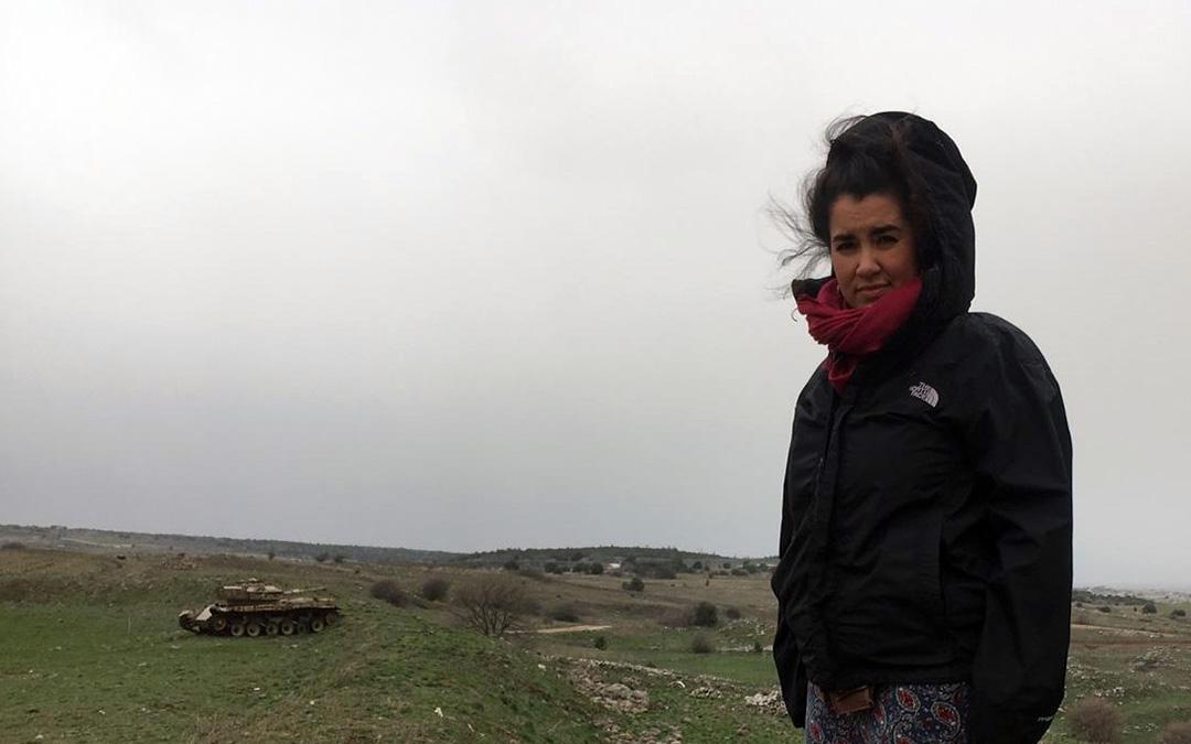 Irene Sánchez en la frontera con Siria./ I.S.