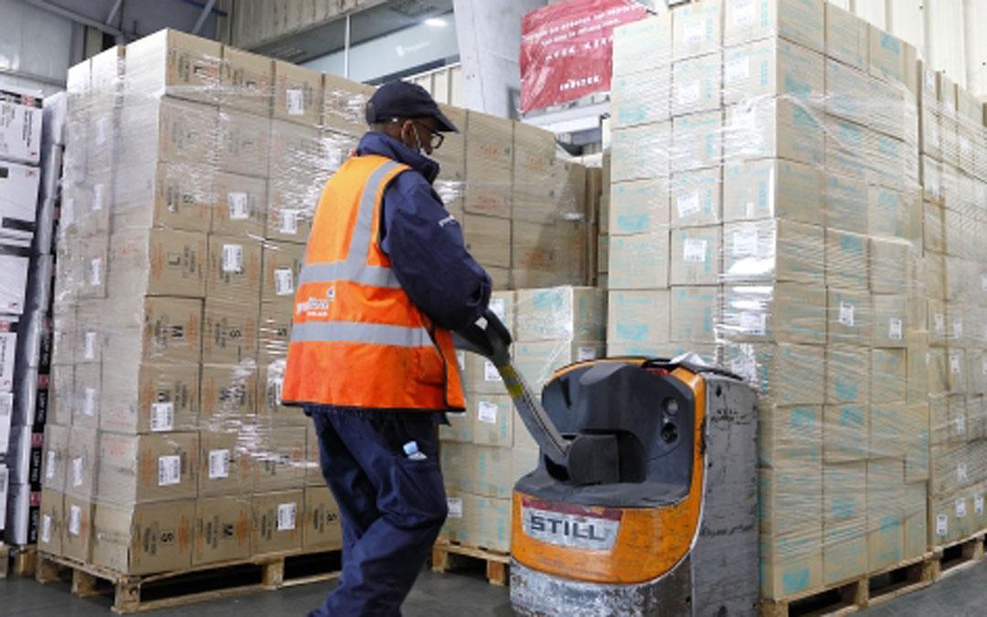 Aragón ha recibido siete toneladas de material sanitario este jueves./LA COMARCA