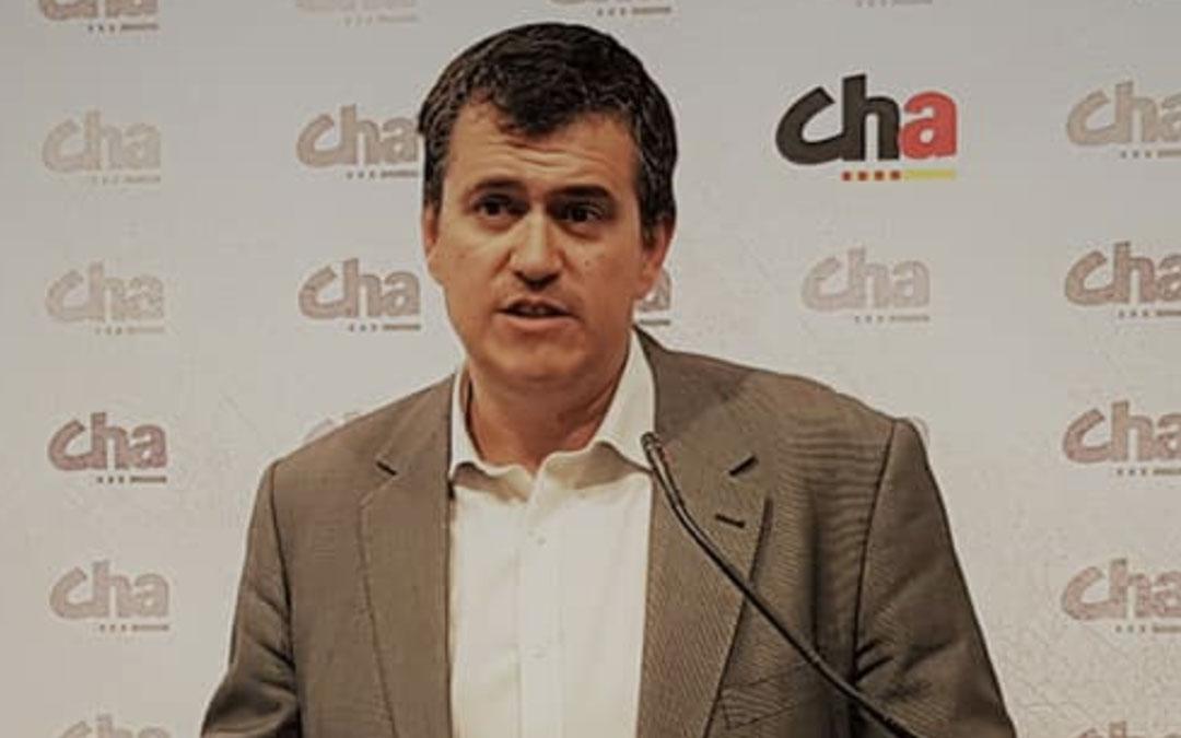 Joaquín Palacín, presidente de Chunta Aragonesista./LACOMARCA