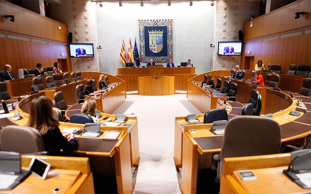Imagen del pleno de las Cortes de Aragón celebrado este miércoles 29 de abril./ Cortes de Aragón