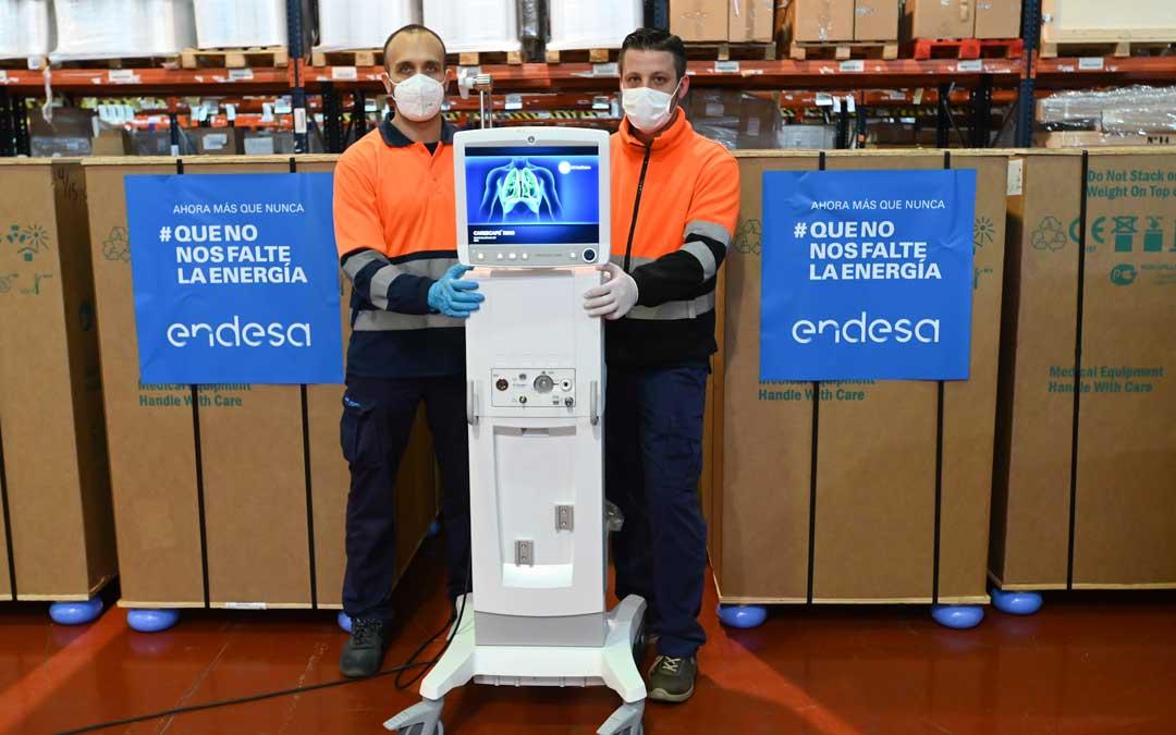 Los respiradores que Endesa ha donado para hace frente al Covid 19 en España