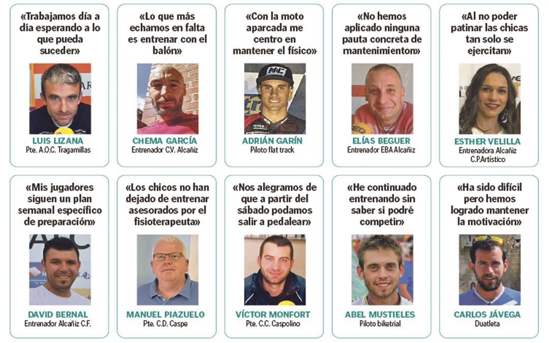Testimonios de dirigentes, deportistas, entrenadores y presidentes de clubes