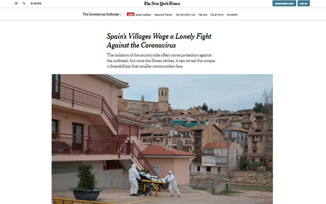 Uno de los periódicos más influyentes a nivel mundial ofrece un reportaje sobre la crisis en el Matarraña.