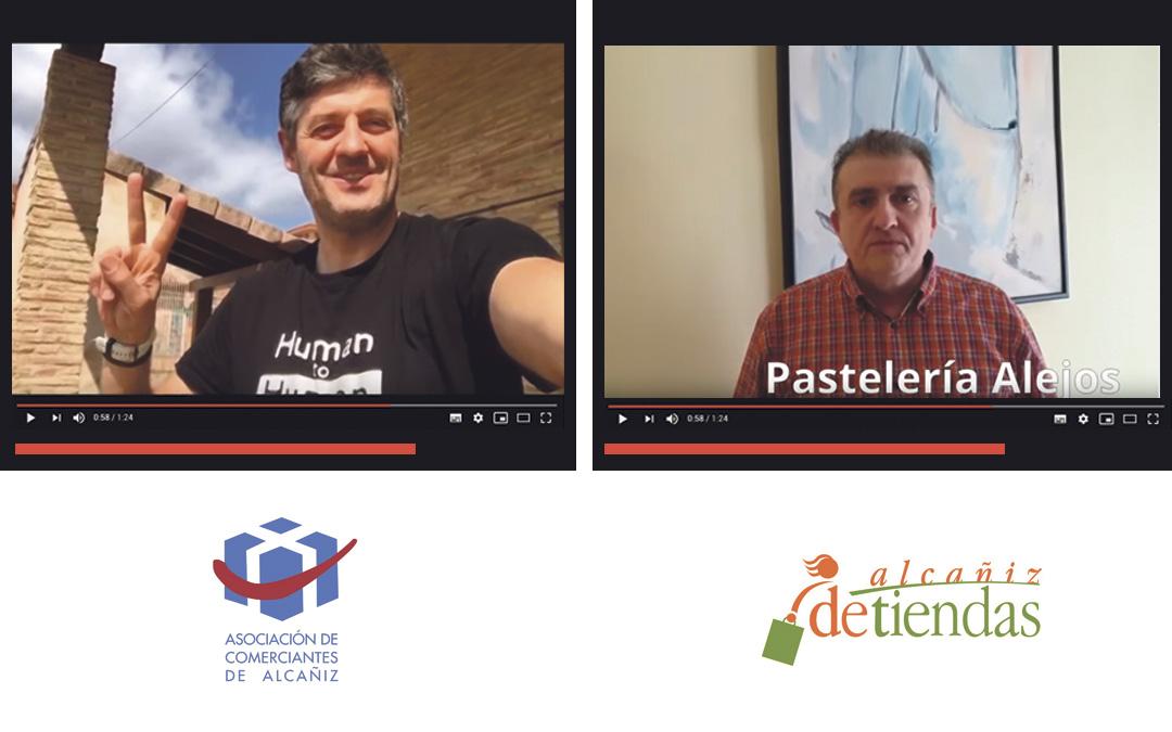 La Asociación de Comerciantes de Alcañiz y el Centro Comercial Abierto Alcañiz de Tiendas han creado sus respectivos vídeos mandando un mensaje de ánimo a los vecinos./ L.C.