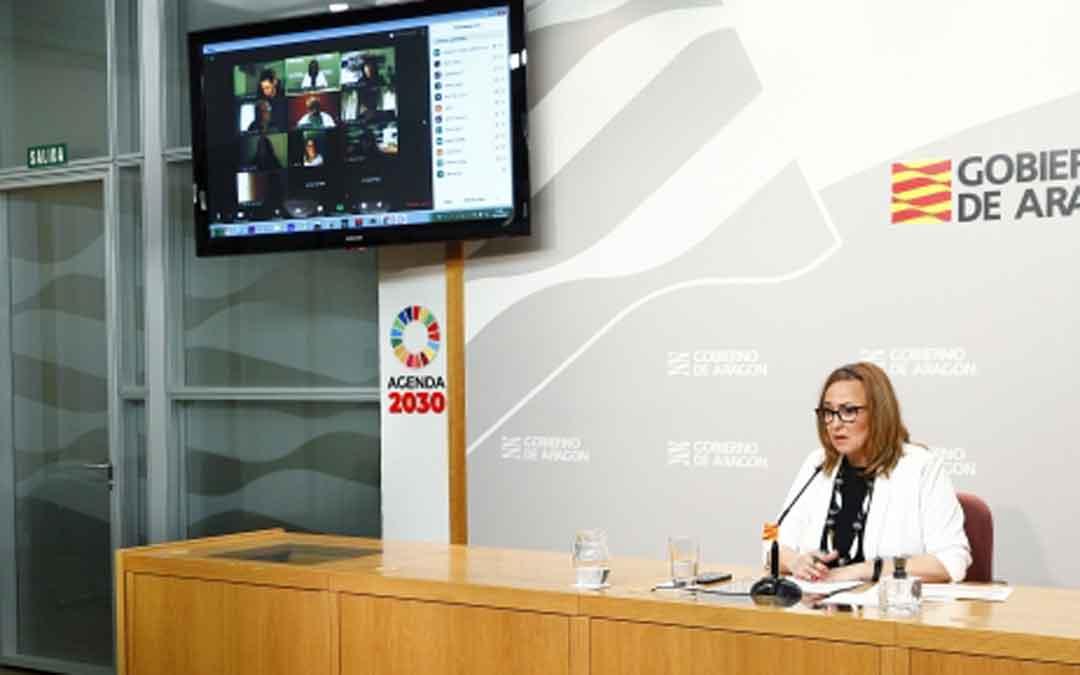 Mayte Pérez el lunes en la rueda de prensa