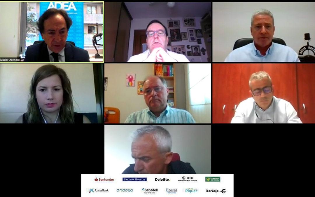 Invitados al encuentro ADEA Conecta sobre medios de comunicación locales de Huesca y Teruel./ ADEA