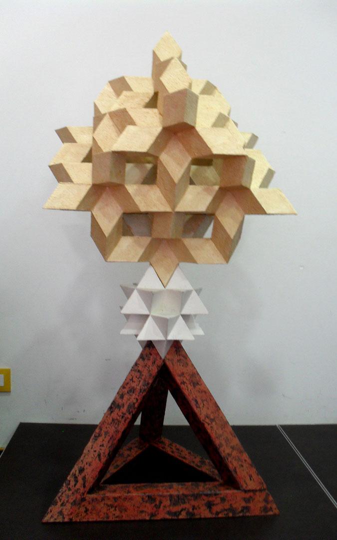 Figuras geométricas de José María Clemente. / Archivo personal