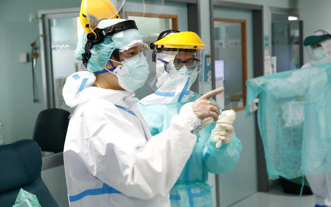 Ascienden a 44 los nuevos contagios en el sector sanitario de Alcañiz