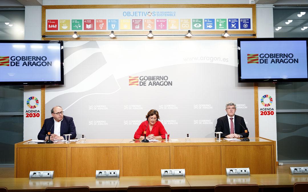 Rueda de prensa de Servicios Sociales para informar sobre el Covid-19 y las últimas novedades respecto a los centros residenciales. / Luis Correas-DGA
