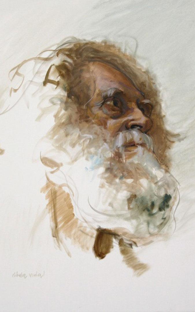 El rostro del cartel de la exposición 'Augenblicke'.