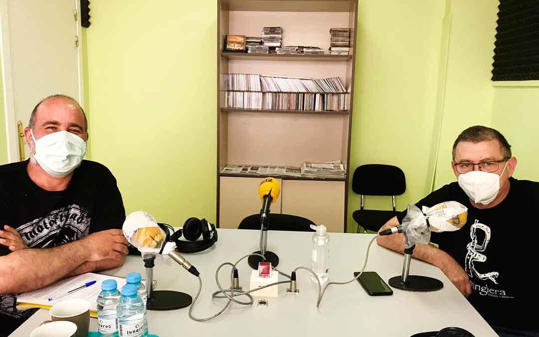 Rafael Guardia y Rafael Lumbreras con mascarillas.