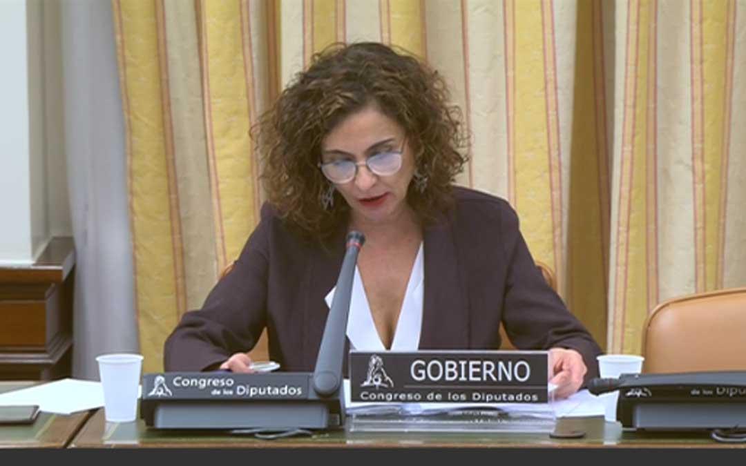 La ministra Montero en el Congreso
