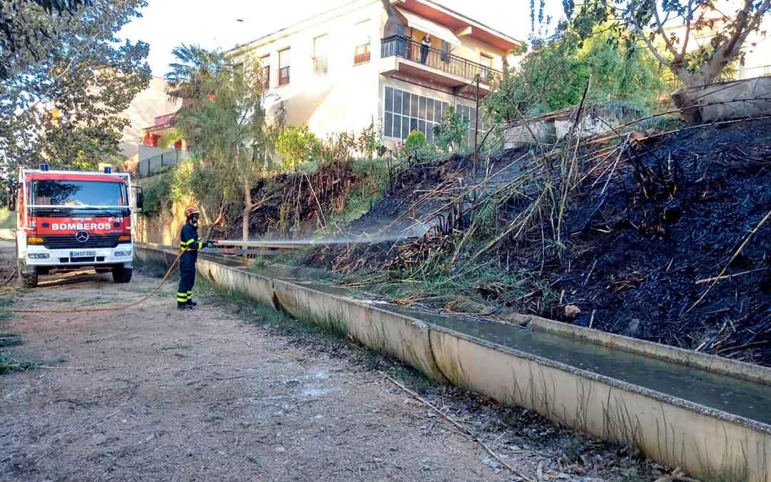 Estado en el que ha quedado la ribera. Imagen: bomberos DPT