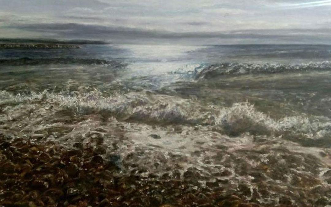 El mar, un tema también recurrente para Marisol Carod. / Archivo personal