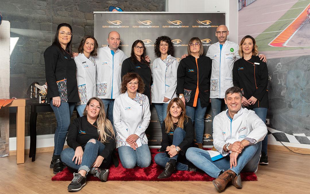Los profesionales de Óptica Bajo Aragón se han formado durante el confinamiento para poder seguir ayudando adaptados a las nuevas circunstancias./ Óptica Bajo Aragón