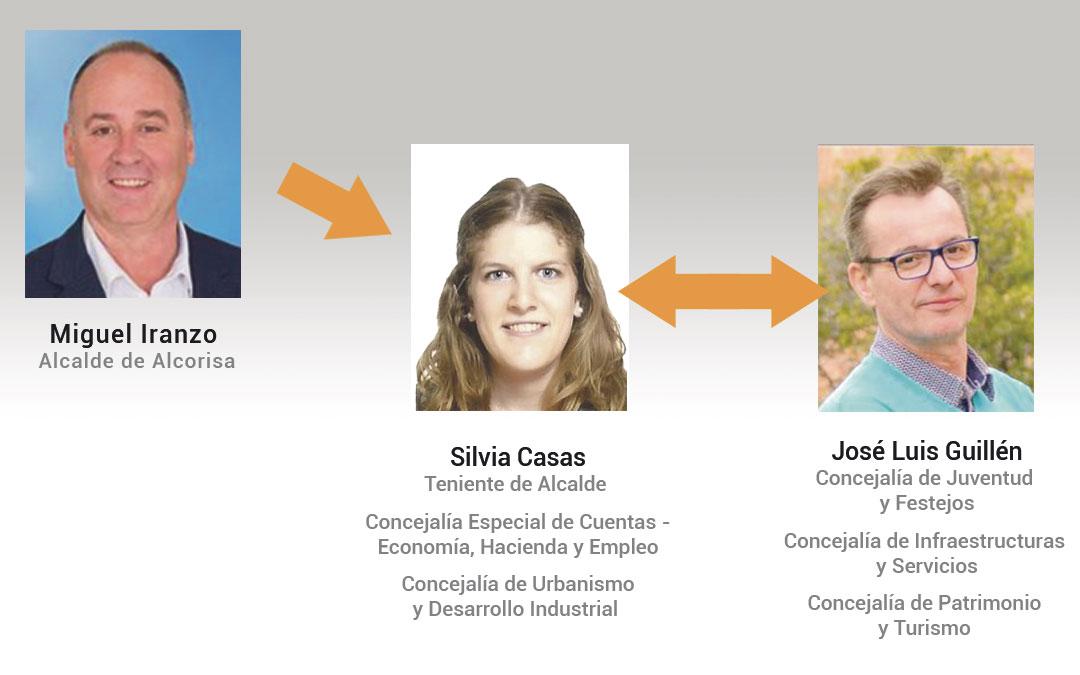 Los principales cambios se han dado entre José Luís Guillén y Silvia Casas, esta última asumiendo la tenencia de alcaldía y el área de Urbanismo, cargos que sustentaba Guillén./L.C