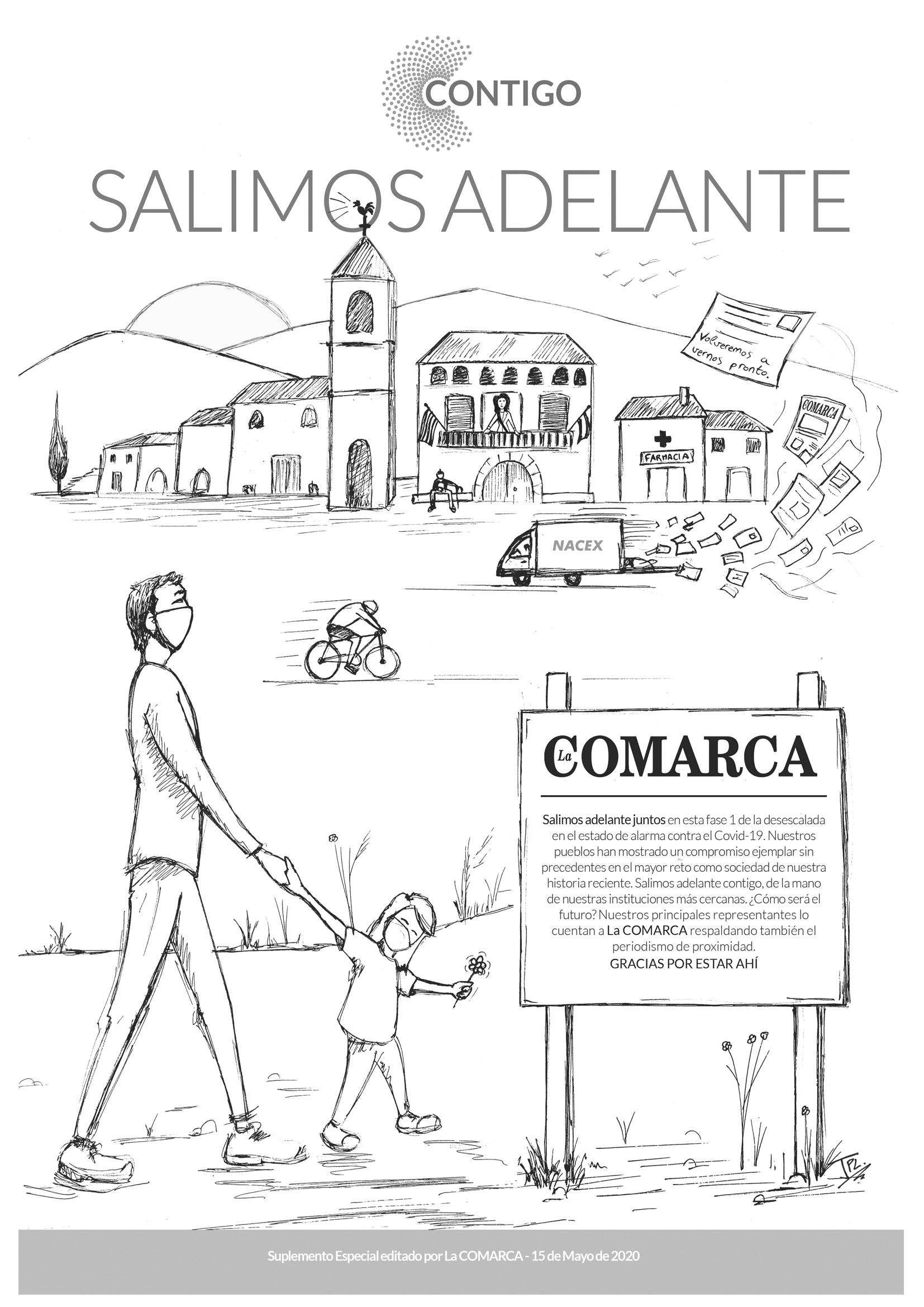Portada del periódico La COMARCA coloreable