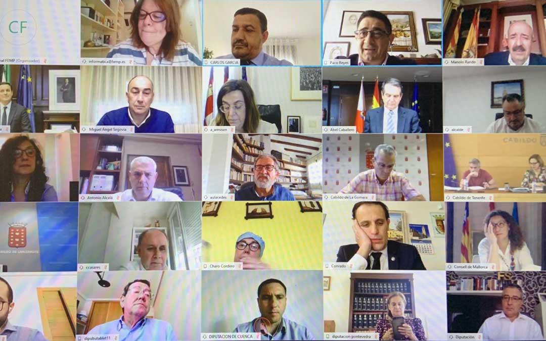reunido telemáticamente en la Comisión de Diputaciones Provinciales, Cabildos y Consejos Insulares de la Federación Española de Municipios y Provincias (FEMP)