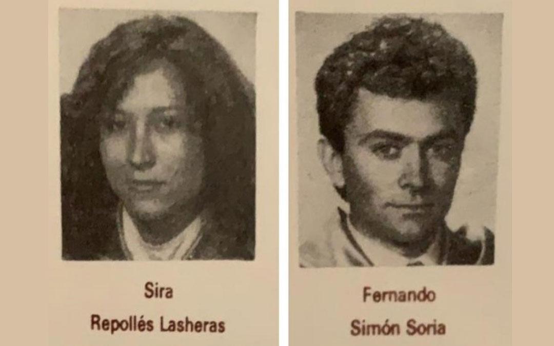 Sira Repollés y Fernando Simón son de la misma promoción de Medicina de la Universidad de Zaragoza./ L.C.