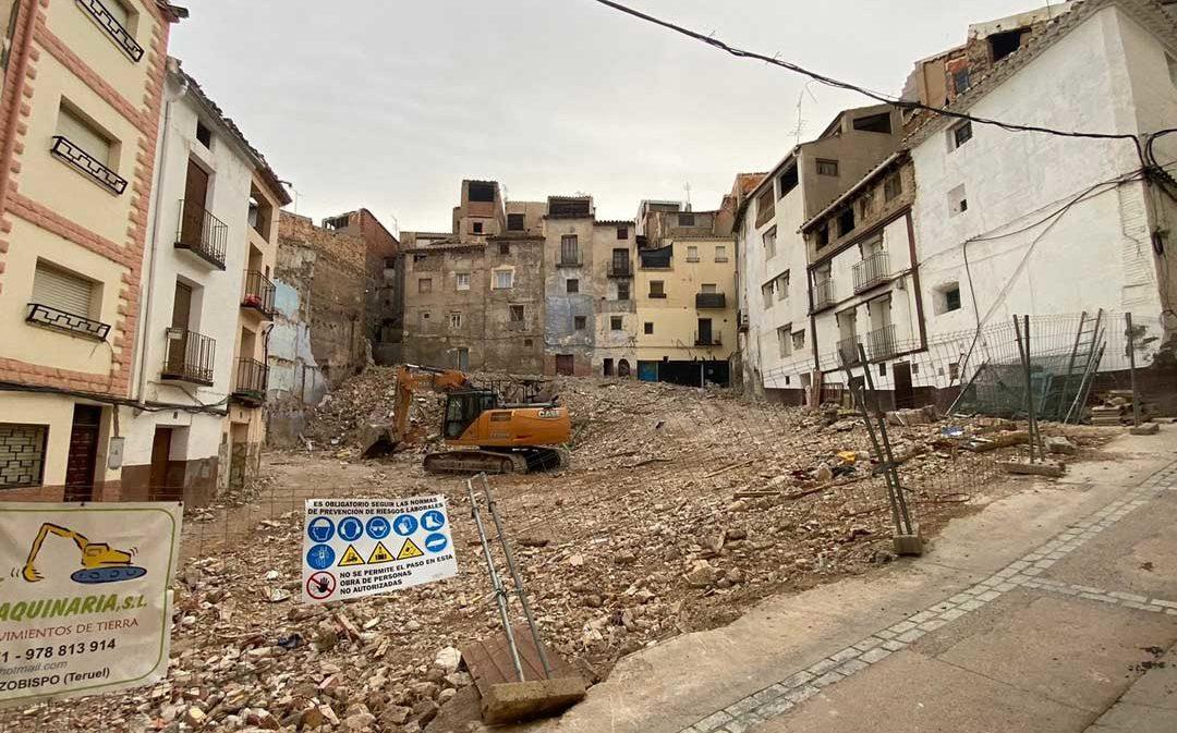 Concluye la demolición de quince inmuebles del Cantón Curto de Albalate
