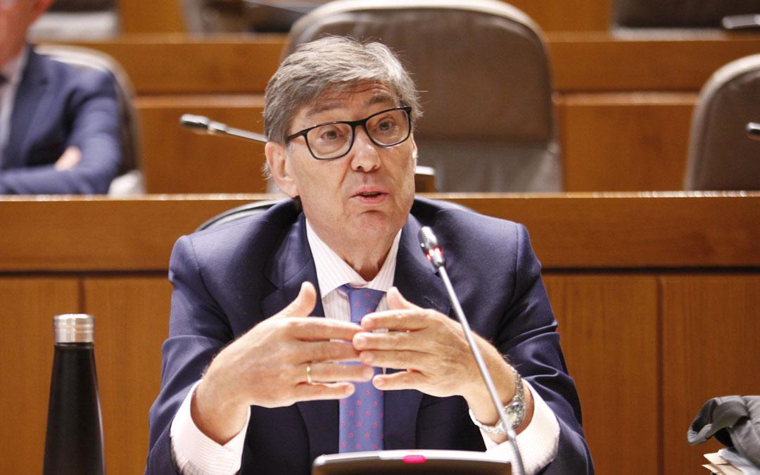 Arturo Aliaga, este jueves en las Cortes de Aragón/. LA COMARCA