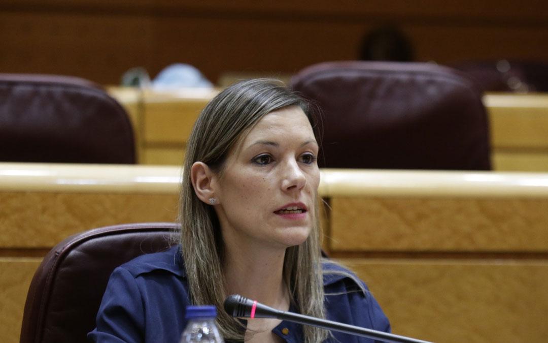 Beatriz Martín es senadora por Teruel Existe./ L.C.